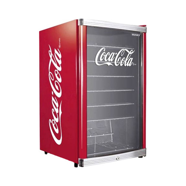 husky highcube coca cola design flaschenk hlschrank getr nkek hlschrank 130l ebay. Black Bedroom Furniture Sets. Home Design Ideas