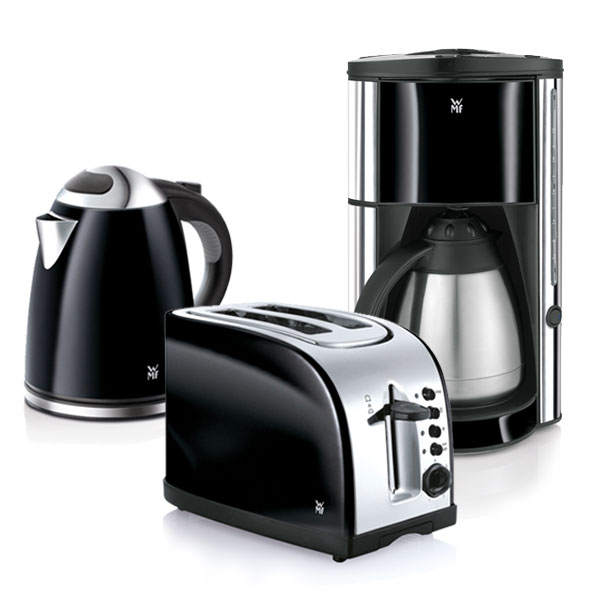 wmf nero k chenset fr hst cksset kaffeemaschine wasserkocher toaster edelstahl ebay. Black Bedroom Furniture Sets. Home Design Ideas