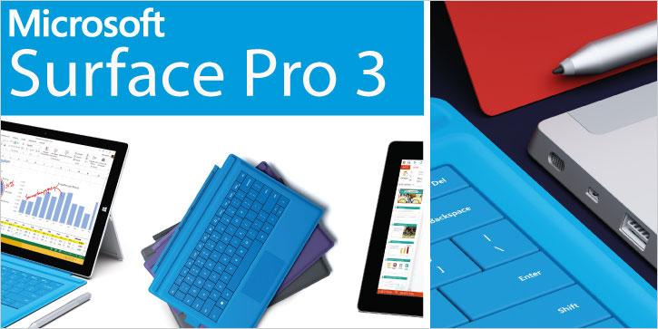 Microsoft Surface Pro 3 - Das Tablet, das Ihren Laptop ersetzen kann.