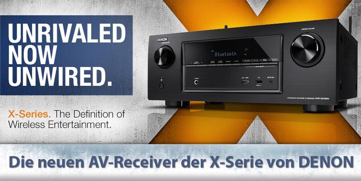 Die neuen AV-Receiver der X-Serie von Denon