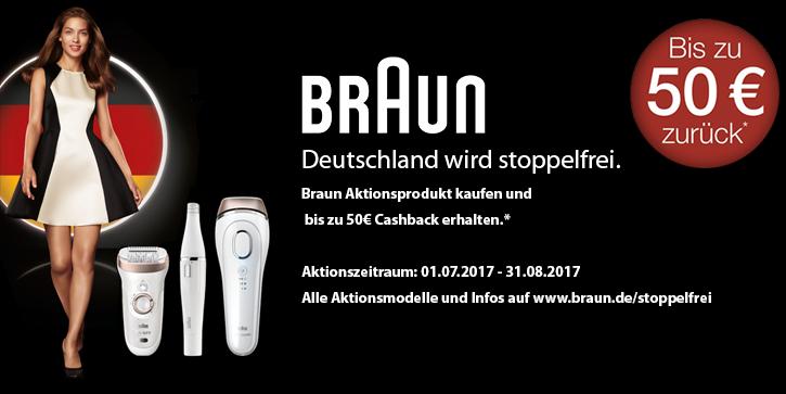 Braun AKtions-Rasierer oder-Sytler kaufen und bis zu 40€ Cashback erhalten.
