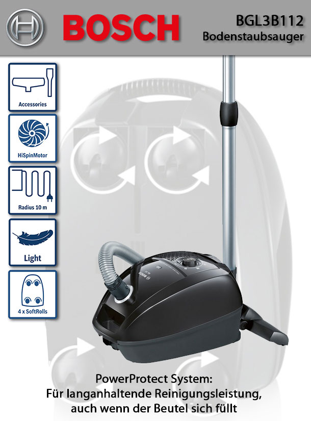 bosch bgl3b112 bodenstaubsauger beutel deltatecc. Black Bedroom Furniture Sets. Home Design Ideas