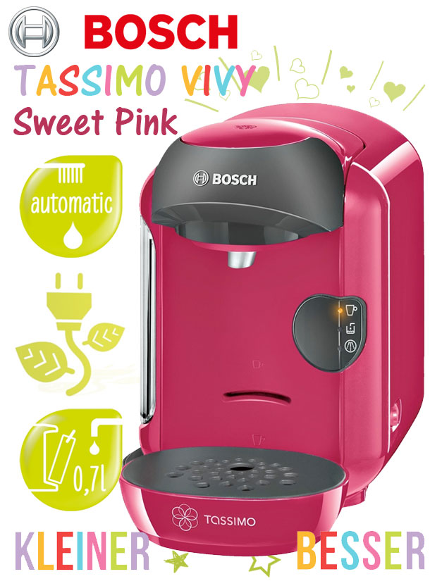 bosch tassimo vivy tas1251 sweet pink multigetr nkesystem. Black Bedroom Furniture Sets. Home Design Ideas
