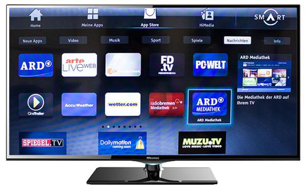 Hisense ltdn50k366 126cm 50 led fernseher smart tv 200 hz for Mediathek spiegel tv