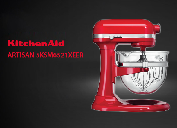 kitchenaid artisan 5ksm6521xeer empire rot 6l profi k chenmaschine 500w ebay. Black Bedroom Furniture Sets. Home Design Ideas