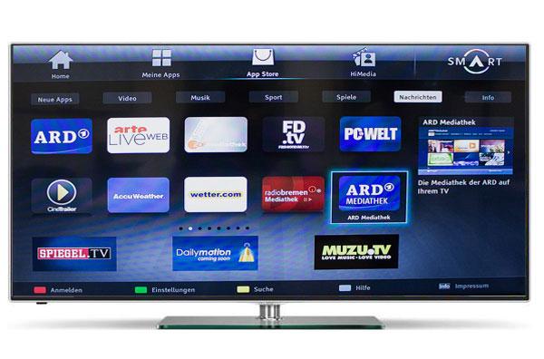 Hisense ltdn42k680xw 106cm ultra hd 4k 3d led fernseher for Mediathek spiegel tv