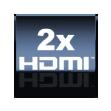 2 HDMI Anschlüsse
