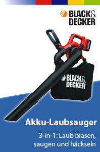 black decker gwc3600l akku laubsauger 3 in 1 laubbl ser h cksler 36v li ion ebay. Black Bedroom Furniture Sets. Home Design Ideas