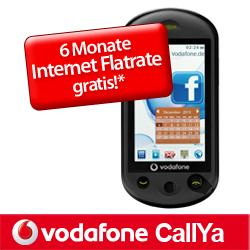 Touchscreen-Handy mit Tastatur Vodafone 553