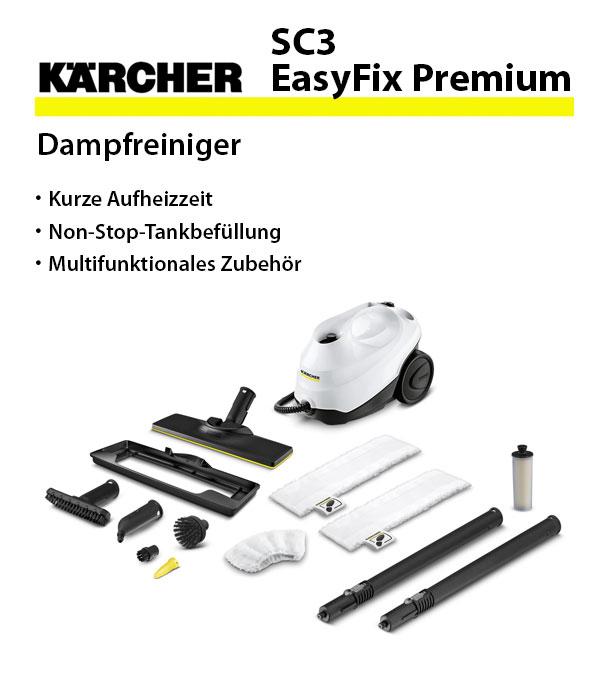 k rcher sc 3 easyfix premium dampfreiniger. Black Bedroom Furniture Sets. Home Design Ideas