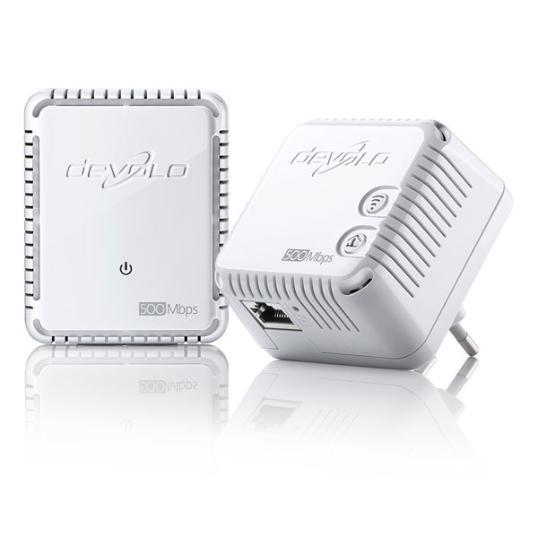 devolo dlan 500 wifi starter kit powerline adapter set wlan 500 mbit s ebay. Black Bedroom Furniture Sets. Home Design Ideas