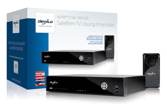 devolo dlan tv sat 1300 hd powerline sat receiver pvr ebay. Black Bedroom Furniture Sets. Home Design Ideas