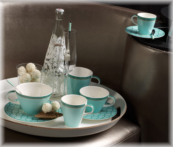 villeroy boch caffe club uni peppermint mokka espresso untertasse 12cm ebay. Black Bedroom Furniture Sets. Home Design Ideas