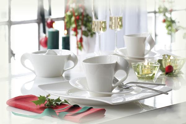 Villeroy boch new wave kaffee set 12tlg v b porzellan ebay for Villeroy boch wave
