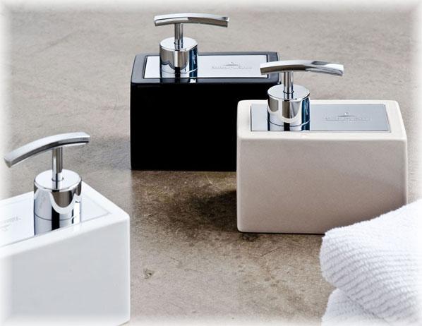 villeroy boch seifenspender manhattan schwarz ebay. Black Bedroom Furniture Sets. Home Design Ideas