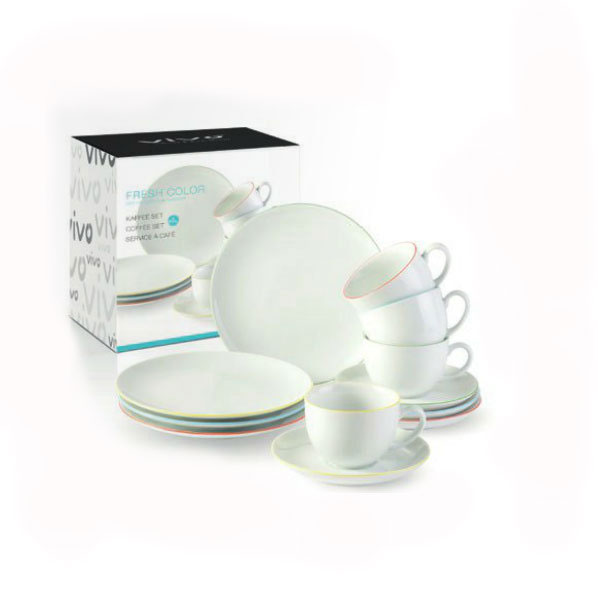vivo villeroy boch fresh color kaffee set 12 tlg kaffeeservice ebay. Black Bedroom Furniture Sets. Home Design Ideas