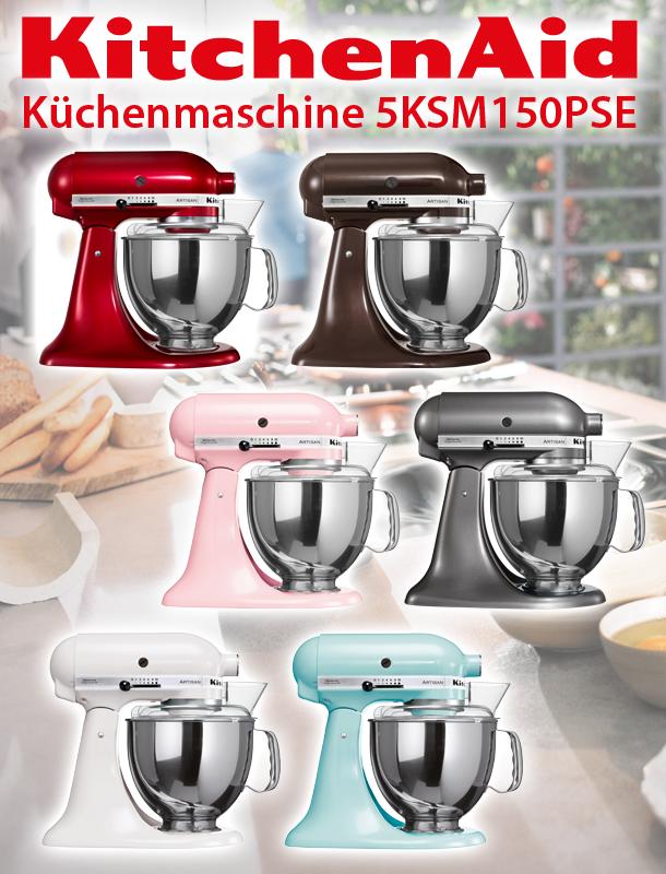 KitchenAid ARTISAN Küchenmaschine 5KSM150PSE Factory Serviced 4,8L ...